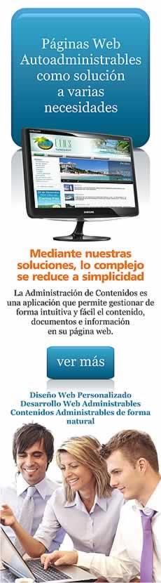 El sitio web autoadministrable como una solución a su futura página web.